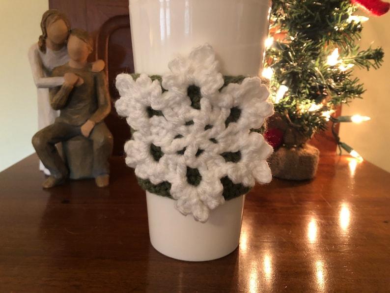 Snowflake Coffee Cozies image 0
