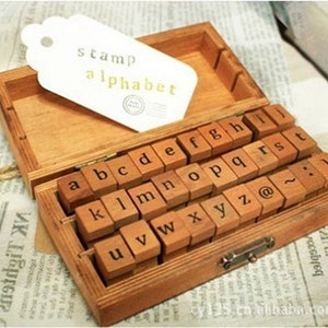 Deco Stamp 40 Pcs Cat Style Wood Stamp Set ON SALE AH201653 Rubber Stamp
