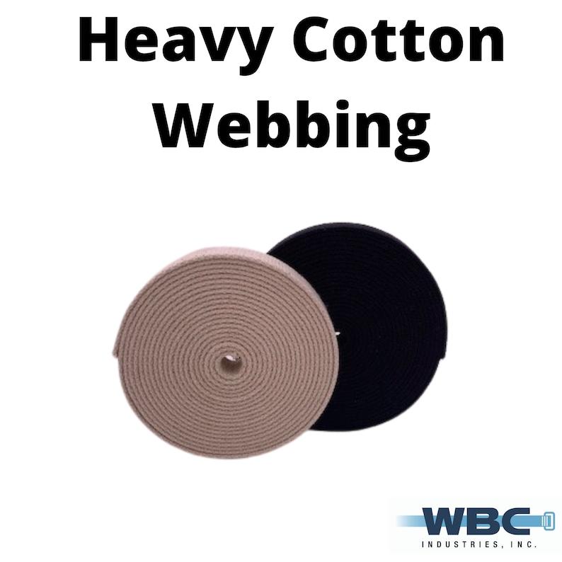 BlackWhite 5 yard rolls Heavy Weight Cotton Webbing