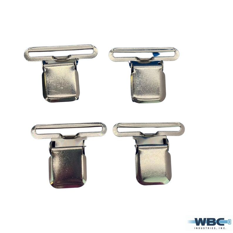 Sold in packs of 4 or Individual 2 Jumbo Industrial Suspender Clips