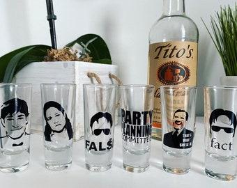 Set of 4 Shot Glasses w naughty drinking sayings