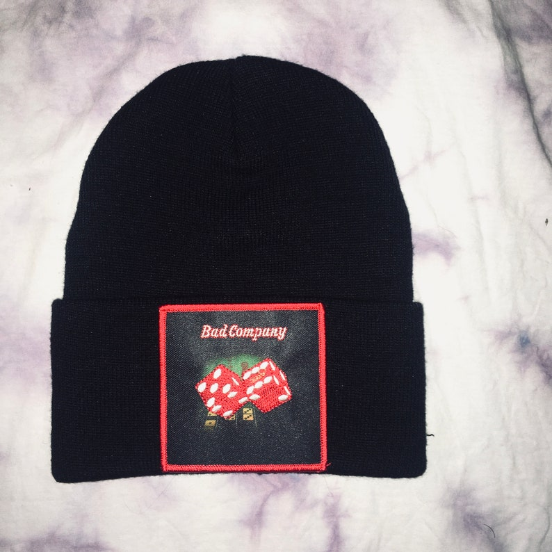 Bad Company Straight Shooter Black Beanie One Size Fits All Unisex