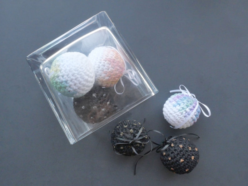 Set of 3 Crocheted Ornaments