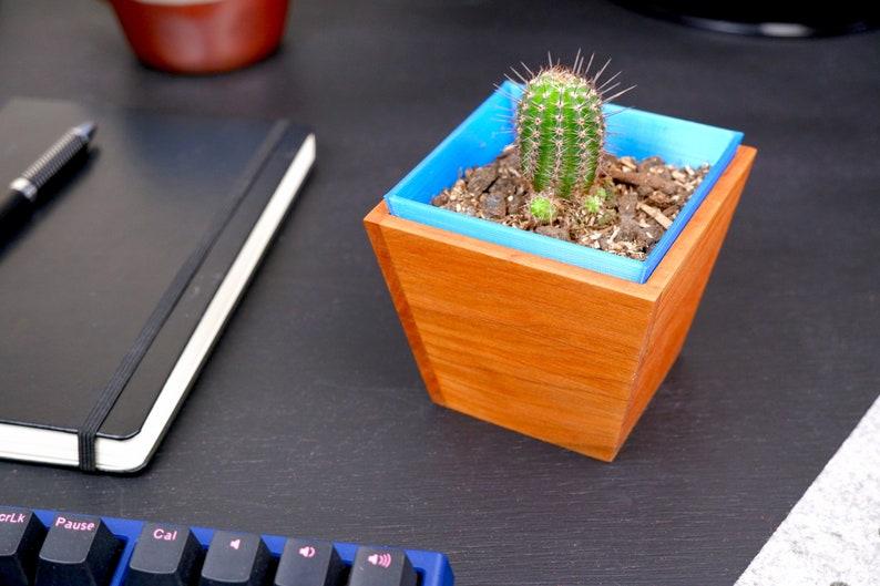 Eco-conscious Desk Planter Cherry (Blue)