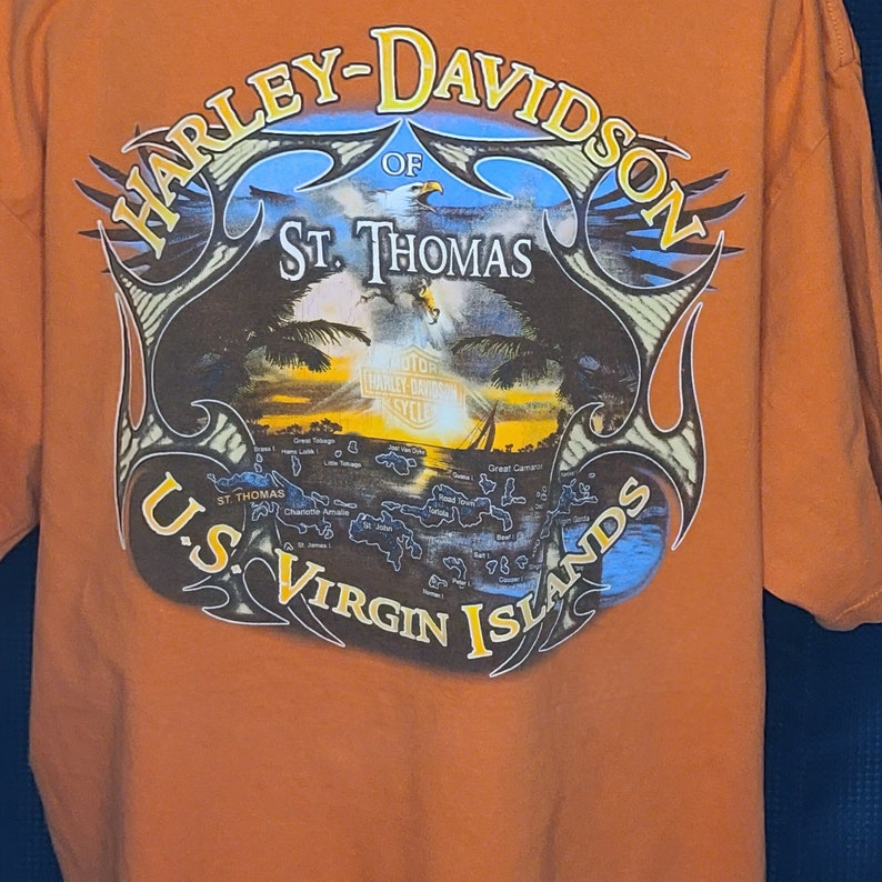 Thomas in Men/'s Size XL St Harley Davidson with Pocket Vintage Recycle Wear Tee