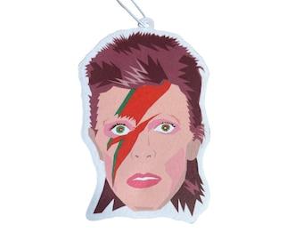 David Bowie Car Air Freshener - Apple Scent