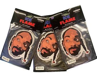 3 x Snoop Doggy Dogg Car Air Freshener - Black Ice scent - Iceflame Air Freshener