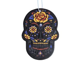 Bohemian Black Skull - Car Air Freshener - Black Ice Scent - Pop Culture Gag Gift - Birthday Gift- Car Accessory Hanging Car Air Freshener