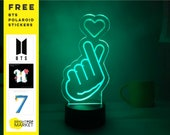 BTS Korean Finger Heart KPOP LED Night Light Lamp