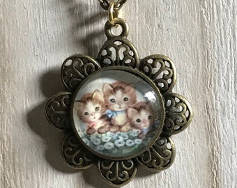 Kitten Necklace - Cat Necklace - Kitten Pendant and Chain - Cat Lover Gift