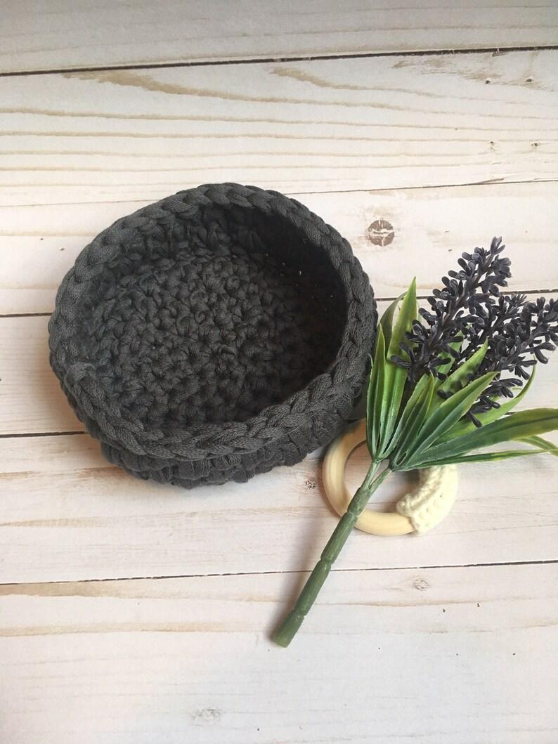 CROCHET BASKET handmade  storage  chic simple basket crocheted  house warming gift