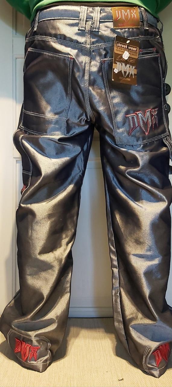 DMX - Silver Baggy Jeans Metallic DMX 90s RARE!