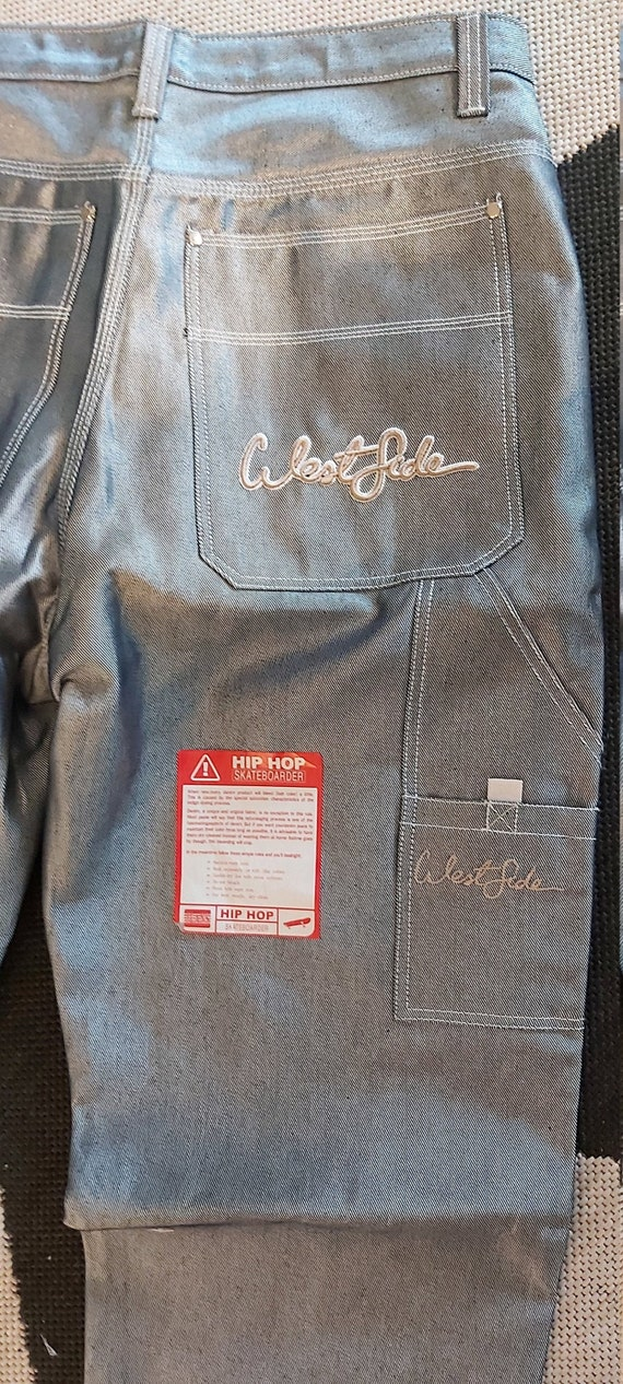 Westside Silver Baggy Jeans -Rare-