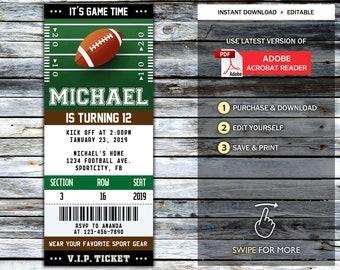 Birthday Ticket Football Ticket Birthday be Cargo Stadium Card