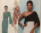 Sewing Pattern Butterick 6557 Women 39 s Fitted One Shoulder Dress - Size 6-8-10-12-14 Bust 30.5-31.5-32.5-34-36 - Uncut Factory Folds