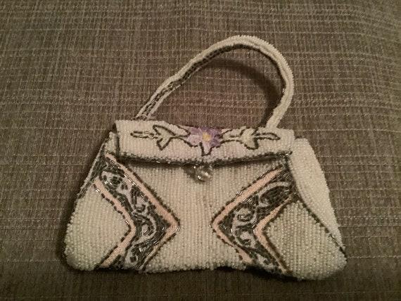 Vintage beaded purse, foreign beaded purse