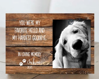 Pet Loss Gifts | Personalized Pet Memorial Frame | Cat Loss Gift | Dog Loss Gift | Pet Bereavement Gift | Pet Sympathy Gift | Pet Loss Frame