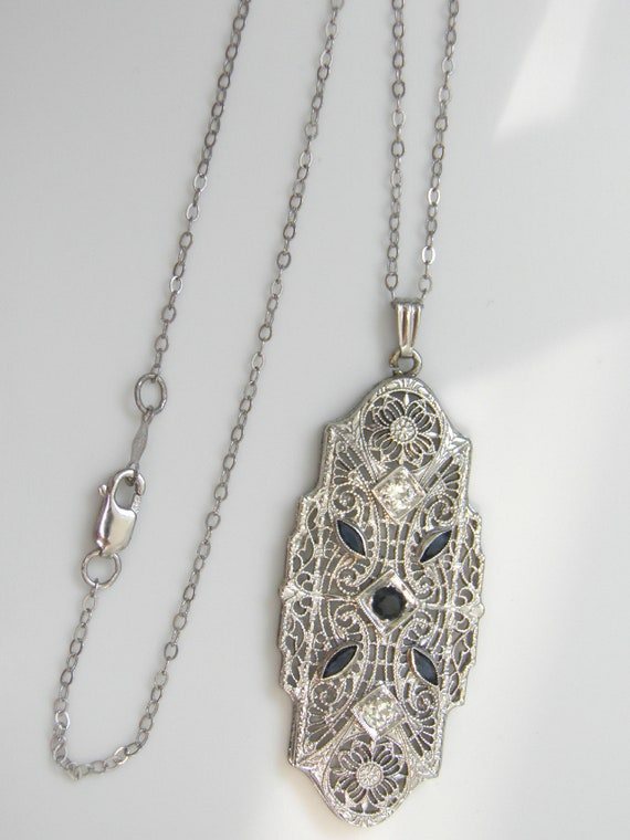 Antique Filigree Necklace in Solid 14kt Gold - Ant