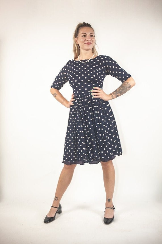 60's polka dot dress