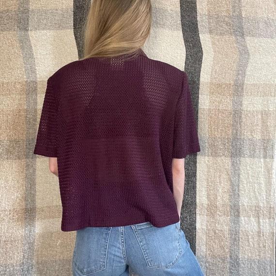 VTG Mesh Short Sleeve Button Down Shirt - image 3