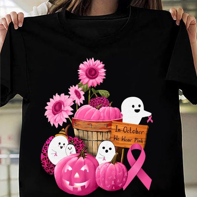 Cute Ghost Pumpkin Flowers Tee Masswerks Store