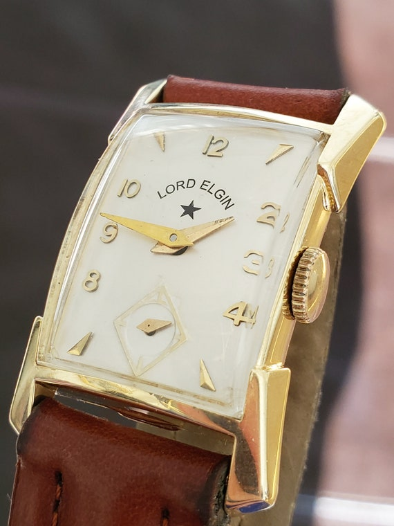 Lord Elgin 14k Solid Gold Men's Watch