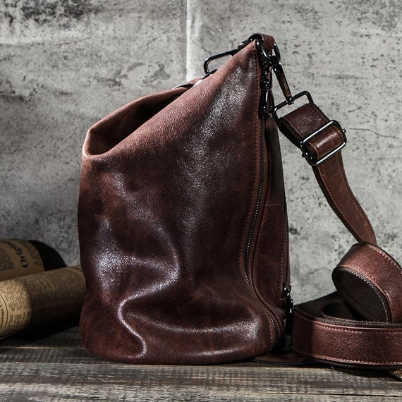 Real Leather Crossbody Bags for Men Shoulder Messe