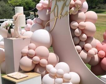 DIY Balloon Garland Arch Kit / Custom High Quality MATTE Colors -  Pink, Blush, Rose, White, Birthday decoration, Baby Girl, Bridal Shower