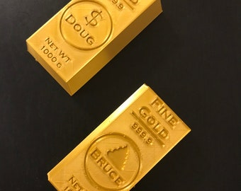 Gold Bar Art And Etsy