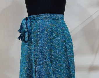 Wraparound Silk Skirt . Vintage Skirt