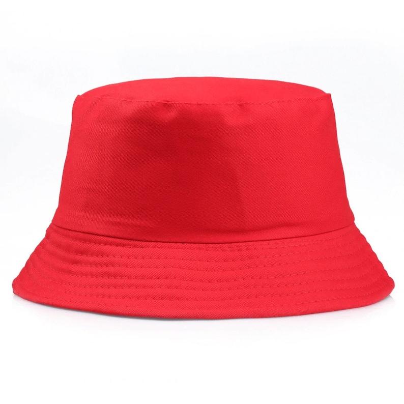 Black White Solid Bucket Hat Unisex Bob Caps Hip Hop Gorros Men women Summer Panama Cap Beach Sun Fishing boonie Hat