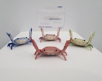 Stationery Crustaceans. Crab Pen & Glasses Holder. Ships from US.
