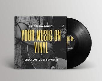 "Custom 12"" Vinyl Record w/ Your Music and Art."