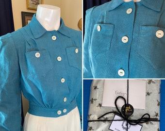 CUSTOM-MAKE 1940s WWII Eisenhower/Lumberjack/Cropped Pendleton Jacket Blue Plaid Cotton Flannel