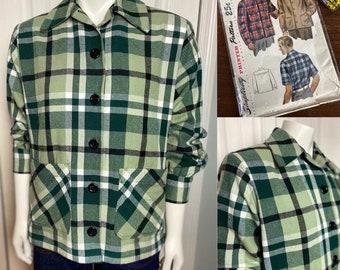 CUSTOM-MAKE 1940s WWII 49er/Pendleton Jacket Cotton Flannel