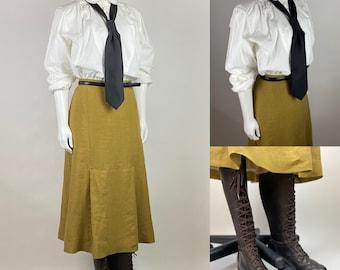 """CUSTOM MAKE - Evie Skirt from """"The Mummy"""" 1920s Linen Walking Skirt"""