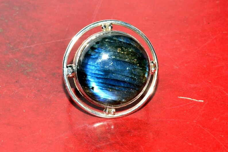 Natural Labradorite Gemstone Ring R1073 925 Sterling Silver Ring Boho /& Hippie Style Handmade Gemstone Ring For Women