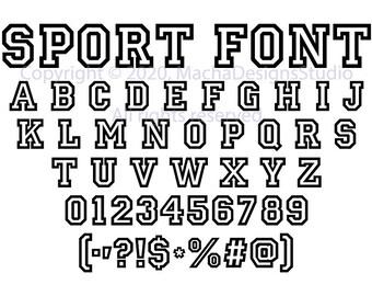 University Font SVG Sport Font Svg Graduation Font Svg University Letters  University Alphabet Collage Font Svg University Cricut Silhouette