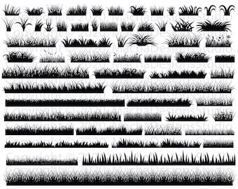 Grass SVG Bundle, Grass Clipart, Files SVG, Instant Download, Grass ClipArt, Grass Svg Cut Files, Digital Download, Grass Bundle Svg, Grass