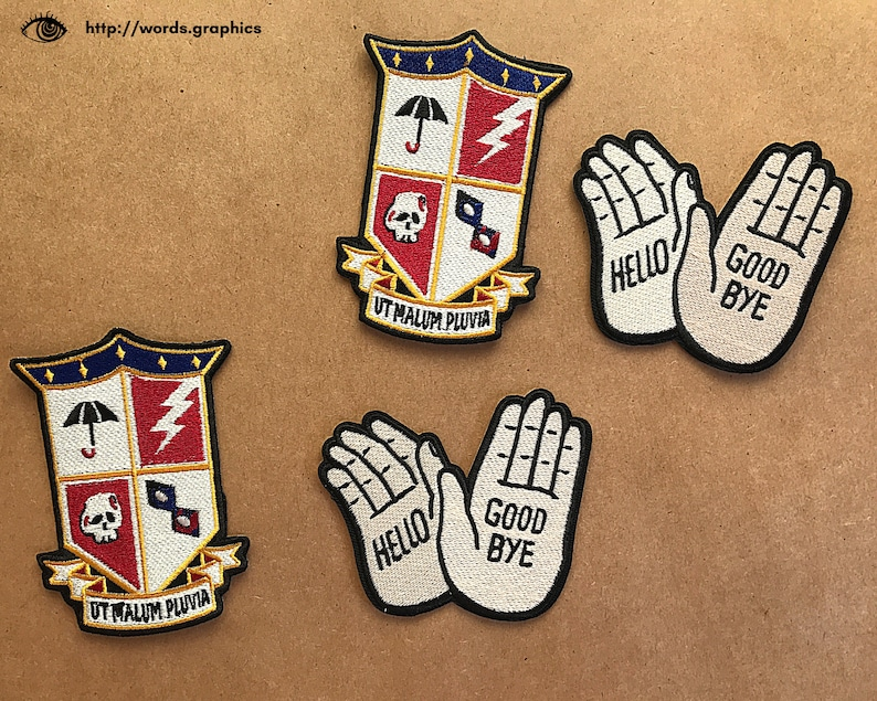 Klaus Hargreeves Hello GoodBye Iron On Embroidered Patch Number Five