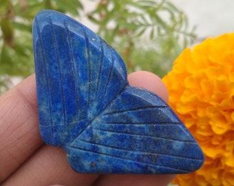 Carved Lapis Lazuli Gemstone Pendant 32x16x9mm,7.7g-h9993