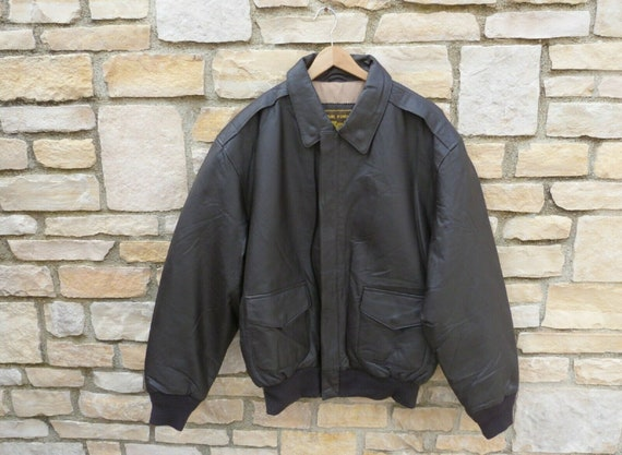 Air Force Uses Real Leather Brown Leather Jacket