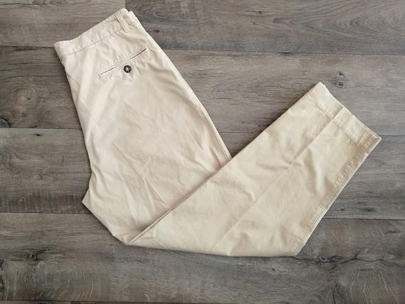 Hugo Boss Linen Pants Beige High Waist Women/'s Trousers Size about L