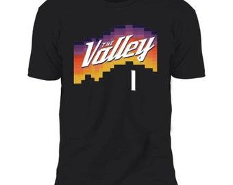 Devin Booker Men/'s Cotton T-Shirt Phoenix Basketball Devin Booker Phoenix Script WHT