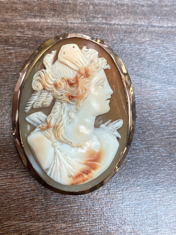 Victorian Edwardian shell cameo