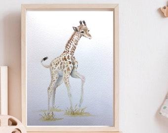 Safari Animal Handmade Watercolor Painting