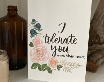 Sarcastic Watercolor Card - Valentine's Day