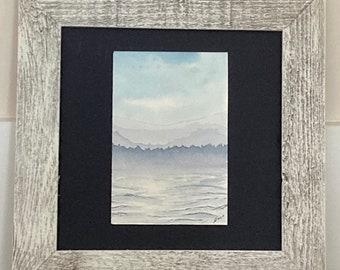 Lavender Lake Life Watercolor Painting