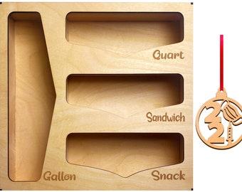 Storage Bag Organizer - Kitchen Drawer Organizer - Sandwich Bag Organizer