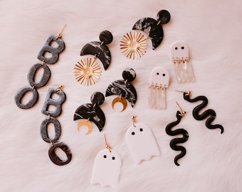 SPOOKY COLLECTION | dangle | polymer clay earring | statement jewelry | dainty | for her | handmade
